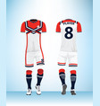 sports jersey template for team uniforms vector image vector image