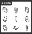 summer outline isometric icons vector image vector image