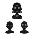 the human race black icons in set collection for vector image