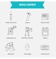 Thin lines web icon set - Medicine equipment vector image vector image