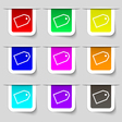 Web stickers icon sign Set of multicolored modern vector image vector image