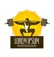weight lifter logo design template gym vector image