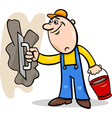 worker with plaster cartoon vector image vector image