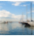 Yachts In Harbor vector image vector image