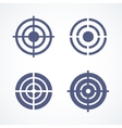 Set of simple abstract targets vector image