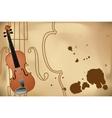 vector illustration of violin vector image