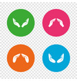 hands icons insurance and meditation symbols vector image