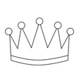 award crown honor winner success icon vector image