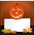 Halloween Jack o Lantern with Copyspace vector image