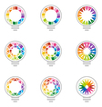 idea rainbow light colorful symbol design vector image