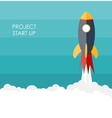 Quick Start Up Flat Concept vector image