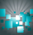Abstract design of squares vector image vector image