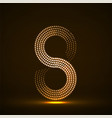 abstract halftone glowing sign of infinity vector image vector image