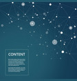 abstract scientific connect background vector image vector image