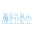 aged people a group old people vector image