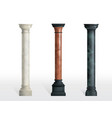 ancient columns colored marble realistic vector image vector image