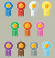 Award-Prize Ribbons In Flat UI Design Style vector image
