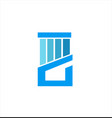 blue concept pillar company logo vector image vector image