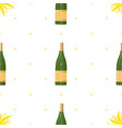 bottle champagne and fireworks seamless vector image