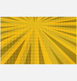 bright yellow striped retro comic background vector image vector image
