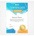 Certificate Vertical Template vector image vector image