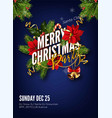 christmas background or greeting poster template vector image vector image