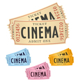 cinema tickets vector image