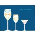 colorful horizontal ogee three wine glasses vector image vector image