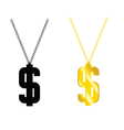 dollar on chain vector image