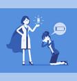 doping for female clerk vector image