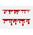dripping paint set liquid drips paint flows vector image vector image
