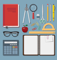 education items set vector image vector image
