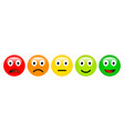 feedback rating scale of red orange yellow and vector image