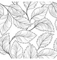 floral seamless pattern graden leaves tile drawn vector image vector image