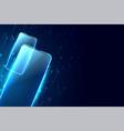 futuristic digital mobile concept digital vector image vector image