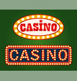 gambling advertisement casino signboard vector image vector image
