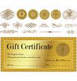 Gift certificate set vector image vector image