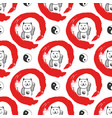 hand drawn seamless pattern with japan fortune vector image vector image