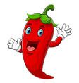 Happy chili cartoon character