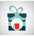 happy fathers day with gift cup coffee vector image