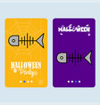 happy halloween invitation design with fish skull vector image