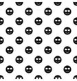 Happy smiley pattern simple style vector image vector image
