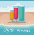 hello summer design vector image vector image