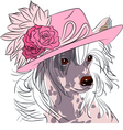 hipster dog Chinese Crested breed vector image vector image