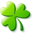 Isolated green clover on white vector | Price: 1 Credit (USD $1)