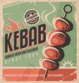 Kebab retro poster vector image