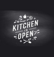 kitchen open wall decor poster sign quote vector image vector image