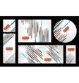 Line banner set vector image vector image