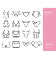 Lingerie and underwear vector image vector image