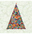marker drawing christmas tree vector image